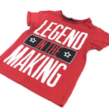 'Legend In The Making' Red T-Shirt - Boys 4-5 Years