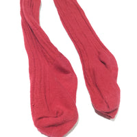 Red Cable Knit Tights - Girls 5-6 Years
