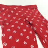 Snowflakes Red & White Pyjama Bottoms - Girls 18-24 Months Christmas