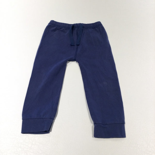Navy Lightweight Jersey Trousers - Boys 6-12 Months