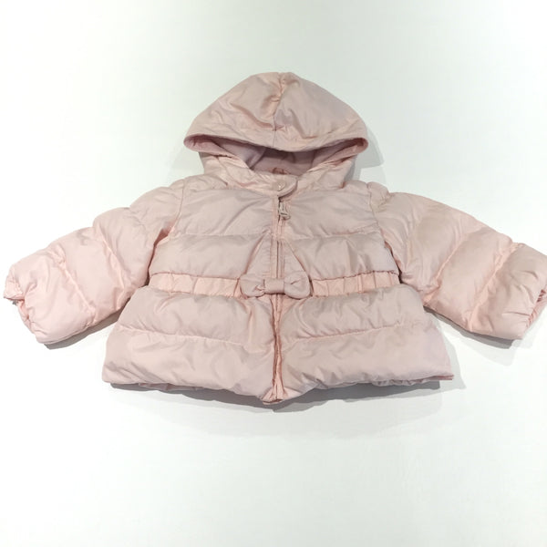 Pink Padded Showerproof Jacket with Hood - Girls 6-12 Months