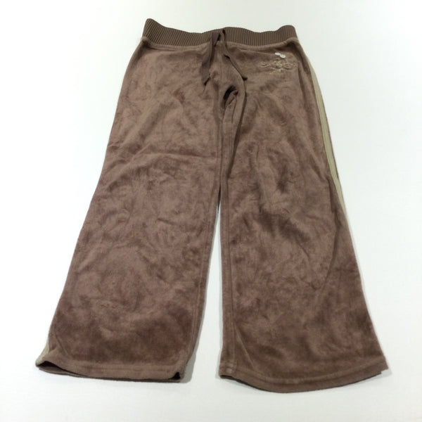 Light Brown Velour Tracksuit Bottoms - Girls 7 Years