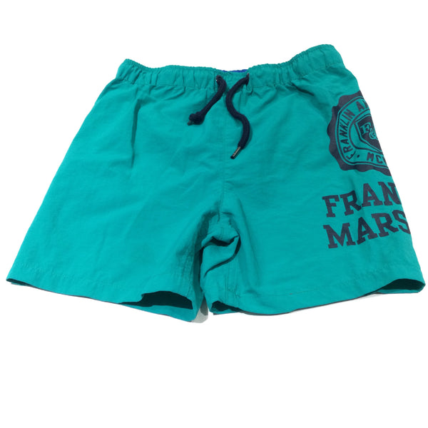 'Franklin & Marshall' Green Swimming Shorts - Boys 7-8 Years