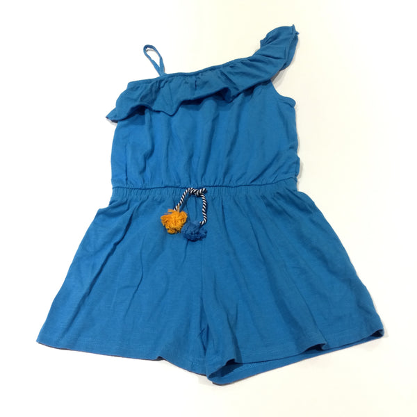 Blue Jersey Playsuit with Tassle - Girls 8 Years
