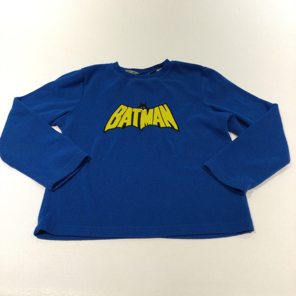 'Batman' Blue Fleece Pyjama Top - Boys 7-8 Years