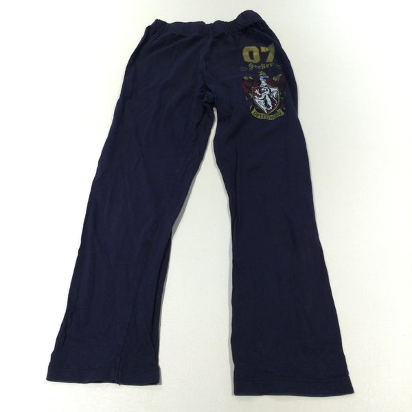 '07 Seeker Gryffindor' Harry Potter Navy Pyjama Bottoms - Boys 7-8 Years
