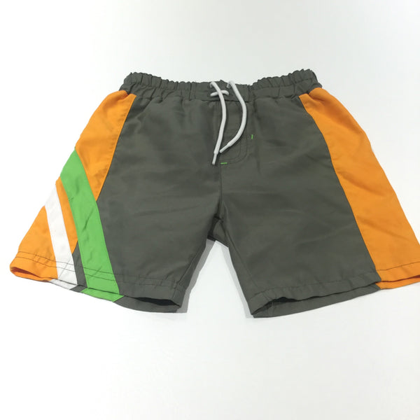 Khaki, Orange, White & Green Swimming Shorts - Boys 18-24 Months
