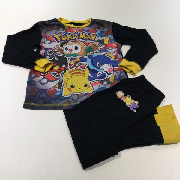 'Pokemon' Black & Yellow Pyjamas - Boys 7-8 Years