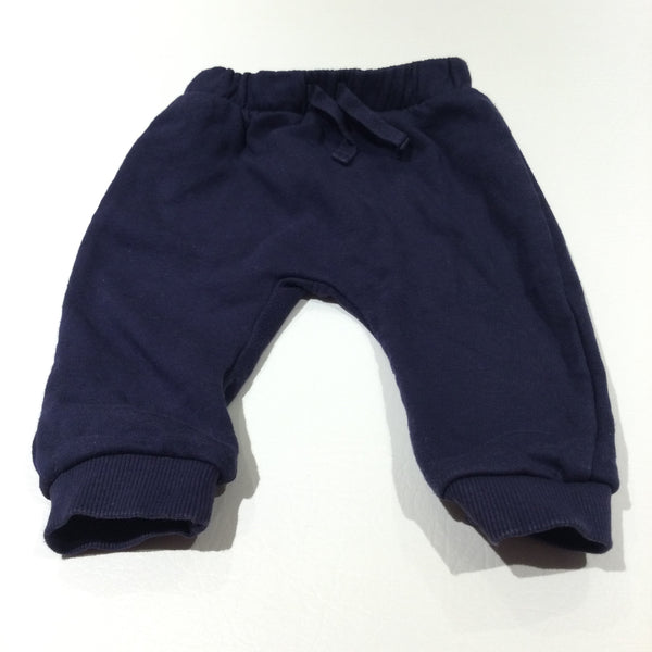 Navy Tracksuit Bottoms - Boys 3-6 Months
