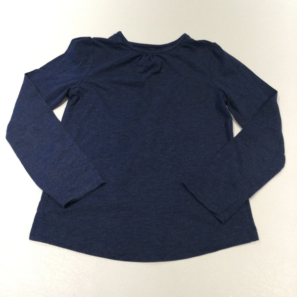 Slate Blue Long Sleeve Top - Girls 7-8 Years