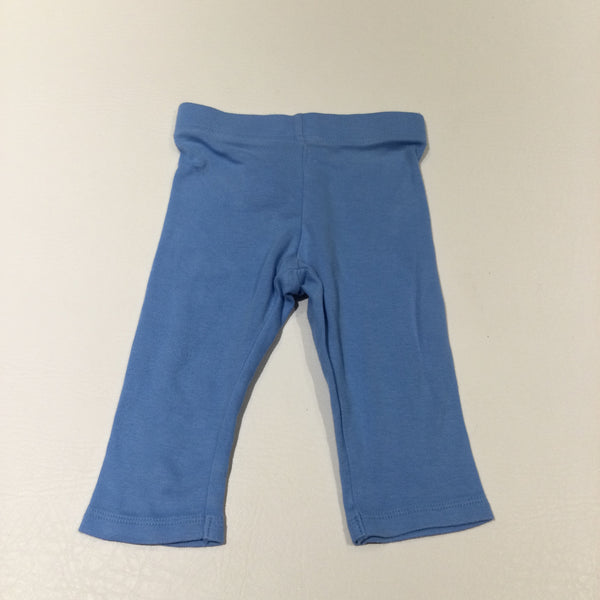 Blue Lighweight Jersey Trousers/Leggings - Boys/Girls 3-6 Months