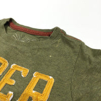 'Super Fast' Khaki Green T-Shirt - Boys 12-18 Months