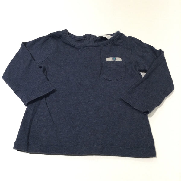 Navy Long Sleeve Top - Boys 0-3 Months