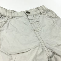 Beige Cotton Shorts - Boys 6-9m