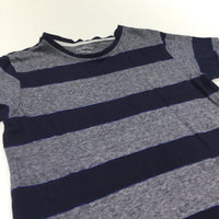 Navy & White Striped T-Shirt - Boys 5-6 Years