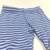Blue Striped Lightweight Jersey Trousers - Boys Newborn - Up To 1 Month