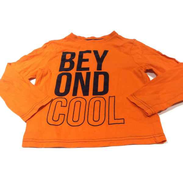 'Beyond Cool' Orange Long Sleeve Top - Boys 4-5 Years