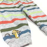 Gruffalo Mouse Embroidered Colourful Striped Tracksuit Bottoms - Boys 3-6 Months