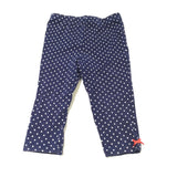 Navy & White Spotty Leggings - Girls 9-12 Months
