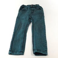 Green & Black Mottled Denim Jeans with Adjustable Waistband - Boys 12-18 Months