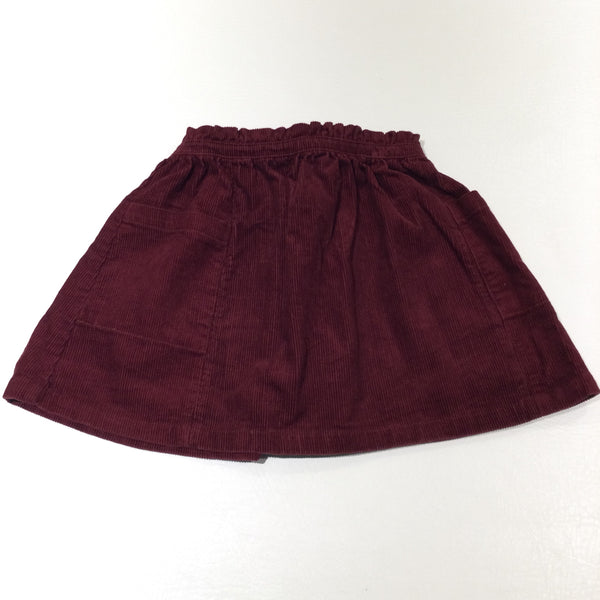 Burgundy Corduroy Skirt - Girls 2-3 Years