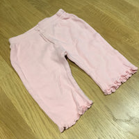 Pink Jersey Trousers with Frilly Hems - Girls 0-3m