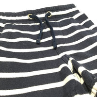 Navy & White Striped Jersey Shorts - Boys 12-18m