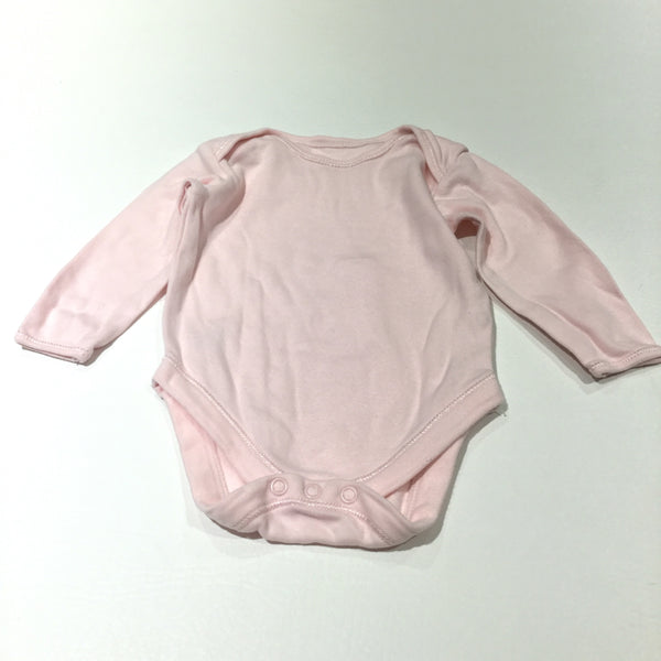Pink Long Sleeve Bodysuit - Girls 0-3 Months