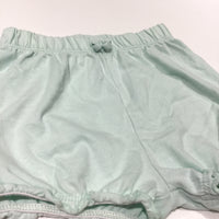 Pale Green Jersey Shorts - Girls 6-9m