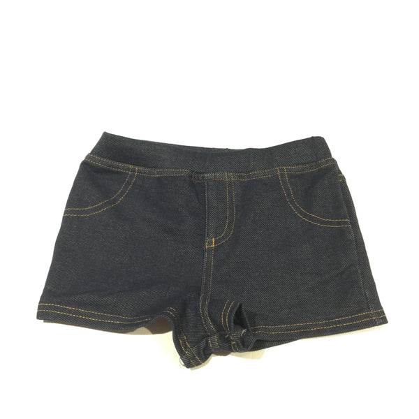 Dark Blue Denim Effect Shorts - Girls 18-24 Months