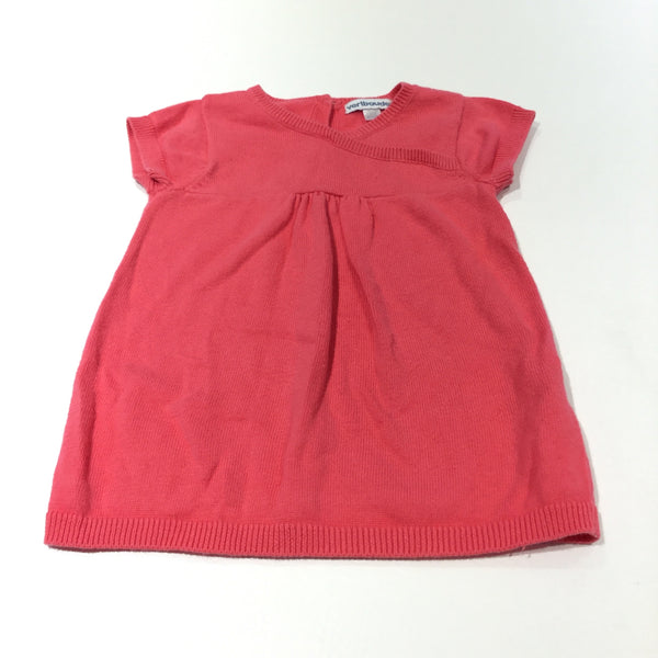 Bright Pink Knitted Dress - Girls 6-9 Months