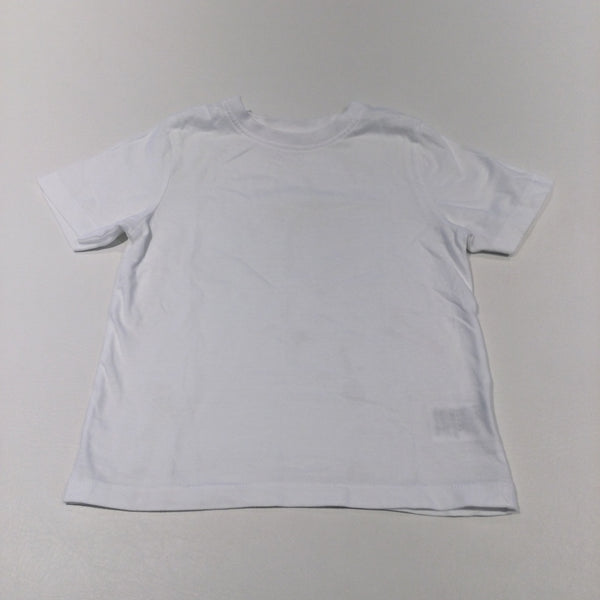 White T-Shirt - Boys 3-4 Years