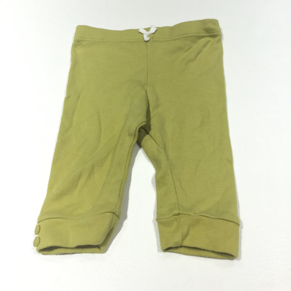 Lime Green Jersey Trousers - Girls 0-3 Months