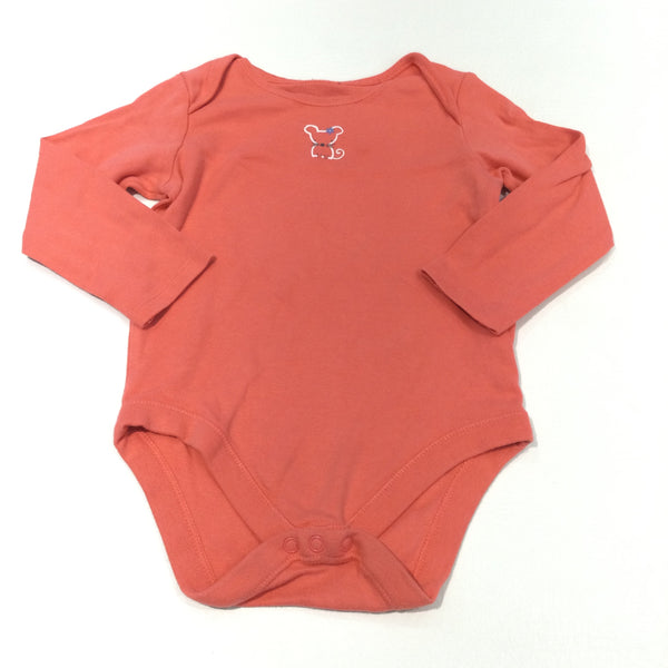 Mouse Coral Pink Long Sleeve Top - Girls 18-24 Months