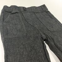 Grey Tweed Effect Cotton Twill Trousers - Boys 9-12 Months