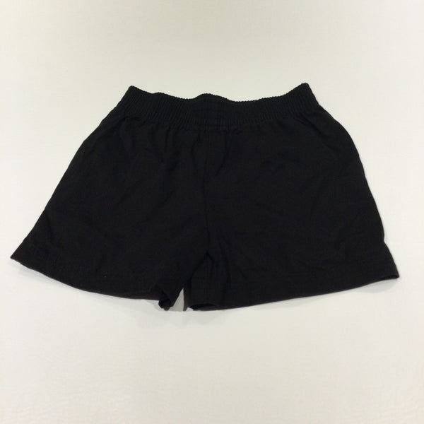 Black Cotton Shorts - Boys 6 Years
