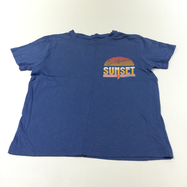 'California Sunset' Blue T-Shirt - Boys 7-8 Years