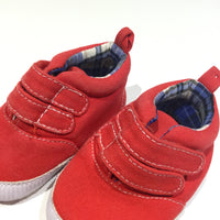 'Little Guy, Big Deal' Red Canvas Shoes - Boys 0-3m