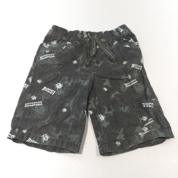 'Bugs' Khaki Green Camouflage Lightweight Cotton Shorts - Boys 3-4 Years