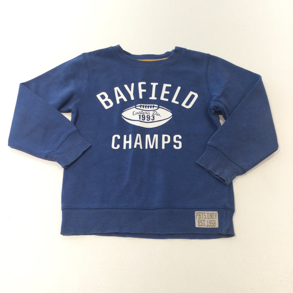 'Bayfield Champs' American Football Blue Sweatshirt - Boys 4-5 Years
