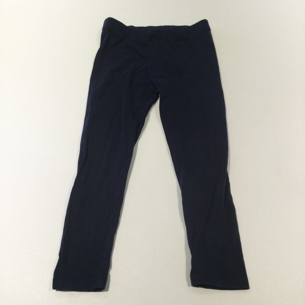 Navy Leggings - Girls 6-7 Years