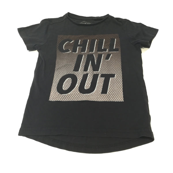 'Chillin' Out' Black T-Shirt - Boys 4-5 Years