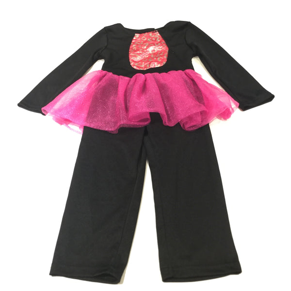 Cat Black & Pink Costume with TuTu & Detachable Tail - Halloween - Girls 2-3 Years