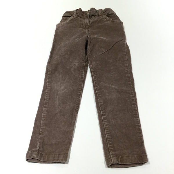 Brown Corduroy Trousers with Adjustable Waistband - Girls 5-6 Years