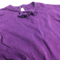 Purple Long Sleeve Top with Frill Detail - Girls 12-18m