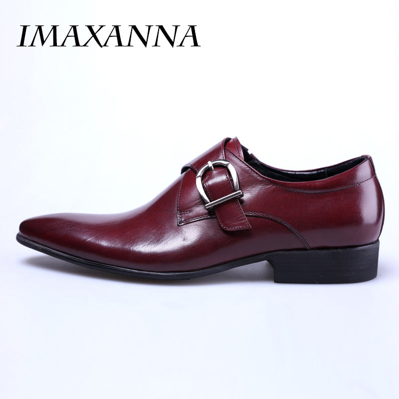 924f684a4afc IMAXANNA 2018 New Men Leather Shoes Man Flat Classic Men Dress Shoes  Leather Italian Formal Oxford