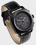 Lifemax Chronograph Atomic Talking Watch - Black Leather