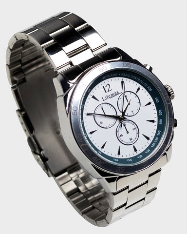Lifemax Chronograph Atomic Talking Watch - Steel
