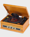Steepletone Norfolk Wooden Record Player