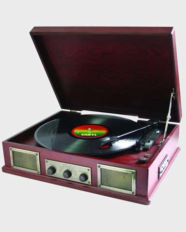 Steepletone Norwich Wooden Record Player